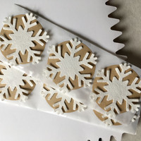 Snowflake Stickers, Handmade snowflake stickers, snowflake gift stickers, snowflake scrapbooking stickers, holiday snowflake gift stickers