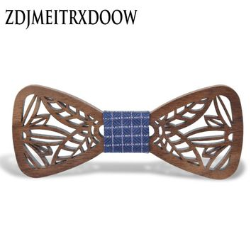 New Arrival Hollow Wood Bow Ties for Mens Wedding Suits Wooden Bow Tie