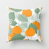 Oranges Throw Pillow by mirimo