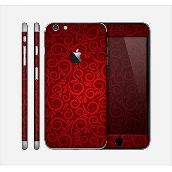 The Dark Red Spiral Pattern V23 Skin for the Apple iPhone 6 Plus