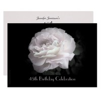 45th Birthday Party Invitation Pale Pink Rose