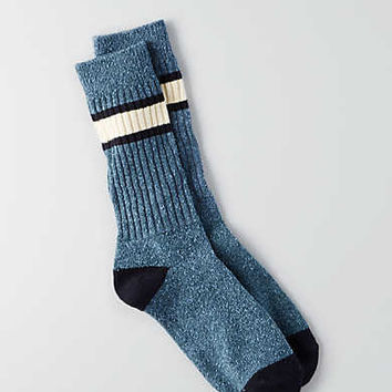 AEO Stripe Cuff Boot Socks, Blue