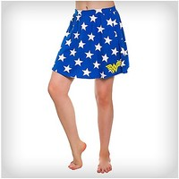 Wonder Woman Star Logo Junior Skirt - Spencer's