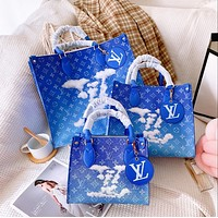 Louis Vuitton LV New Sale Gradient Printed Letter Tote Bag Shoulder Bag