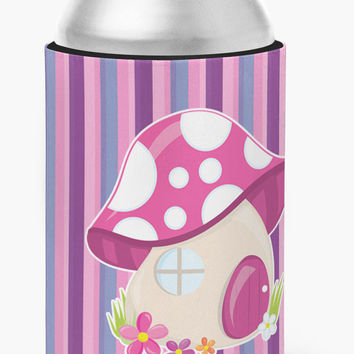 Fairy House Pink and Purple Can or Bottle Hugger BB6908CC