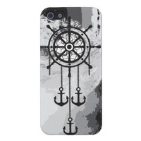 Black and White Anchor Dream Catcher and Sea Covers For iPhone 5 from Zazzle.com