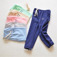 travel snail 100% cotton kids pants girls harem pants boys children pants toddler trousers elastic waist 2-7 yrs