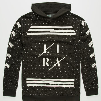 Lira Mens Flagged Lightweight Hoodie Black  In Sizes