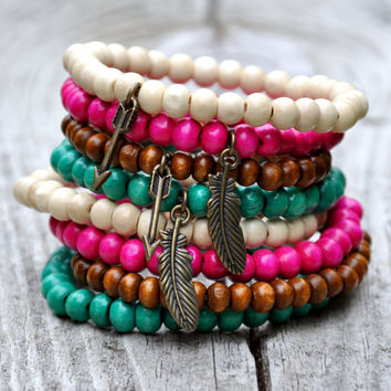 Ultimate Feather & Arrow Bracelet Stacking Set