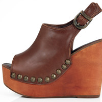 Snick Studs Metallic Pu - Brown