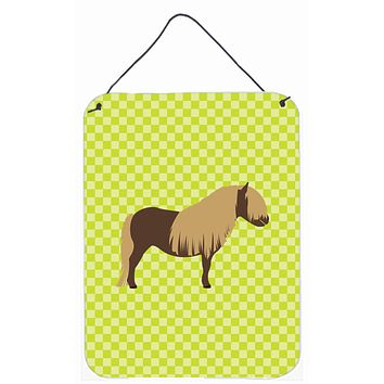 Shetland Pony Horse Green Wall or Door Hanging Prints BB7740DS1216