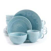 Gibson Alemany 16pc Dinnerware Set - Aqua