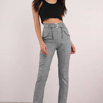 Rehab Clothing Plaid The Part Cigarette Pants