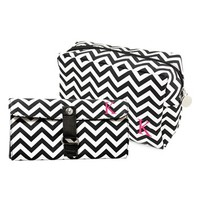 Cathy's Concepts Personalized Cosmetics Bag & Makeup Brush Set