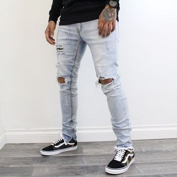 James Denim Distressed Jeans (Indigo)