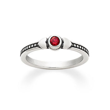 Sweetheart Ring with Lab-Created Ruby