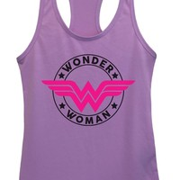 Womens Wonder Woman Grapahic Design Fitted Tank Top