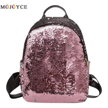 School Backpack trendy Women's Glitter Sequins Backpack Teenage Girls Students Fashion  Casual Travel Bling Rucksack Mochila Feminina AT_54_4
