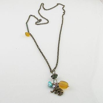Bronze & Recycled Glass Necklace