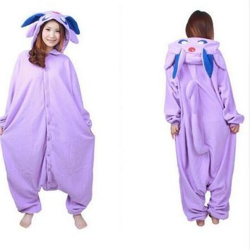 New Anime Pokemon Master Espeon Cosplay Costume Onesuit Jumpsuit Pyjamas Hot Sale