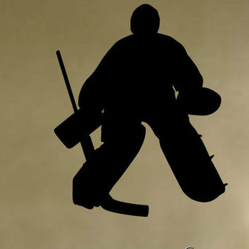 Vinyl Wall Decal Sticker Hockey Goalie Player #222