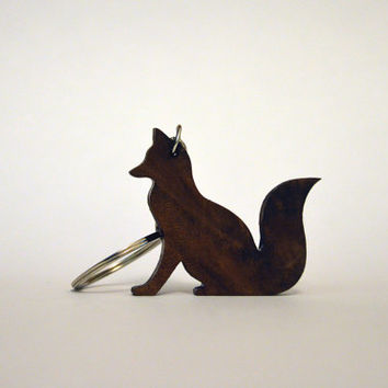 Fox walnut keychain!