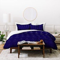Leah Flores Anchor Pattern Duvet Cover