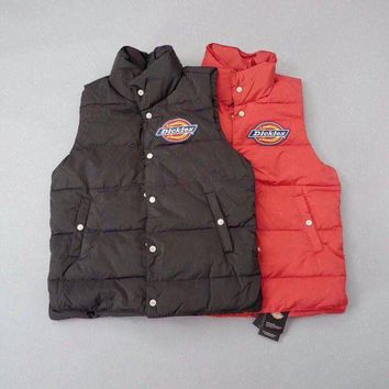 PEAPNQ2 Dickies Woman Men Fashion Sleeveless Cardigan Jacket Coat Vest