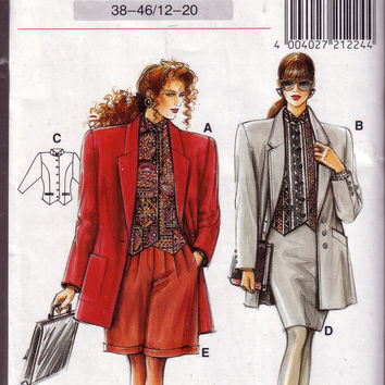 Vintage Neue Mode, Avantgarde, V 21 224, Jacket, Top, Skirt, Pant, Sizes 12 - 20