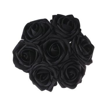Black Artificial Flowers 50pcs Real Looking Roses with Stems for Wedding Bouquets Centerpieces Party Baby Shower Decorations DIY