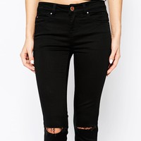 New Look Petite Busted Knee Supersoft Superskinny Jeans