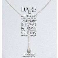 Dogeared Dare To Lariat necklace, 28"