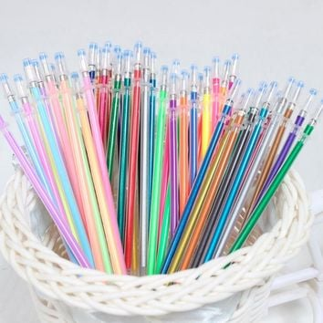 48 Colors A Set Flash Ballpoint Gel Pen Highlighters Refill Color Full Shinning Refills Painting Ball Point Pen-PC Friend