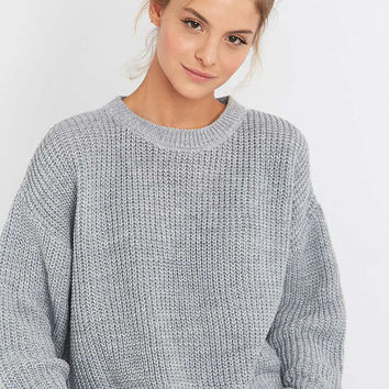 BDG Waffle Knitted Fisherman Jumper - Urban Outfitters