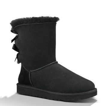 UGG Australia Women's Bailey Bow Boots,Black,US 6 US