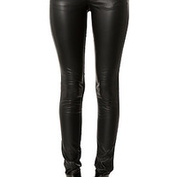 The Faux Leather Fronted Pant