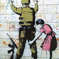 Girl Searching Soldier Banksy Art Print