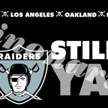 Still Oakland Raiders Skull Flag 3x5 FT Banner USA 100D Polyester Banners Flags With Sleeve Metal Gromets