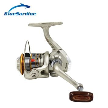 BlueSardine Metal Head Fishing Reel Spinning 6 Ball Bearing 5.1:1 Coil Aluminum Spool 5000 4000 3000 2000 1000