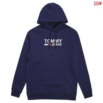 Tommy New fashion letter print couple hooded long sleeve sweater 10#