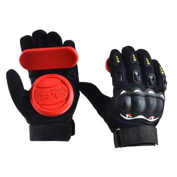 Skateboard Longboard Gloves With Slider