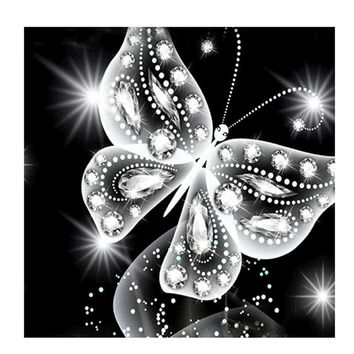 Rhinestones Butterfly Painting 5D Diamond Embroidery DIY Cross Stitch Decoration Crafts