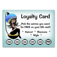 Beauty Salon Loyalty hairstylist punch cards