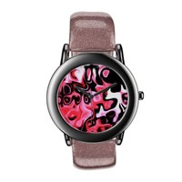 Pink and Black Abstract 44.55 Spark Wristwatches from Zazzle.com