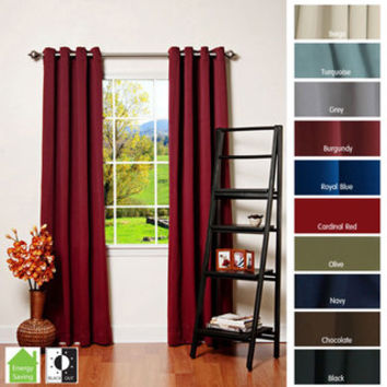 Grommet Top Thermal Insulated 95-inch Blackout Curtain Panel Pair | Overstock.com