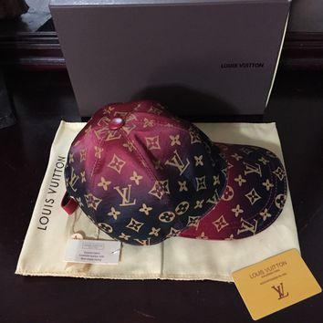 Louis Vuitton (Red Gradient Cap!!) Rare Collectors Piece!!