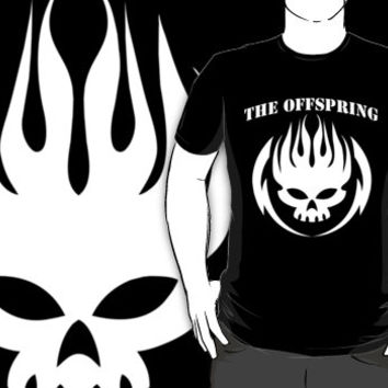 THE OFFSPRING Logo Rock Band Black T-shirt