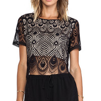 Lovers + Friends Affair Crop Top in Black