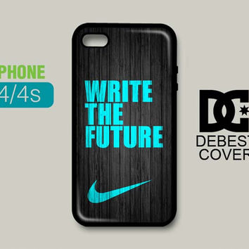 NIKE Mint Write The Future Wood Colored iPhone Cases