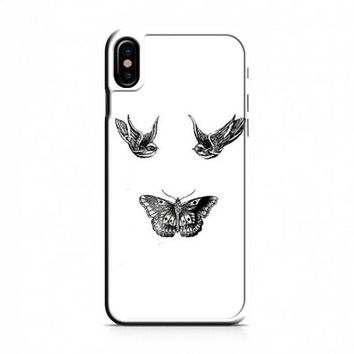 Birds And Butterfly Tattoos iPhone X Case